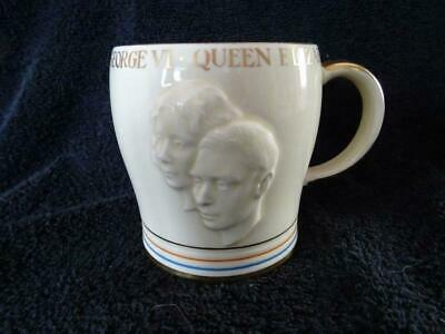 Delightful Crown Devon Mug For The 1937 Coronation - George VI • 14.95£