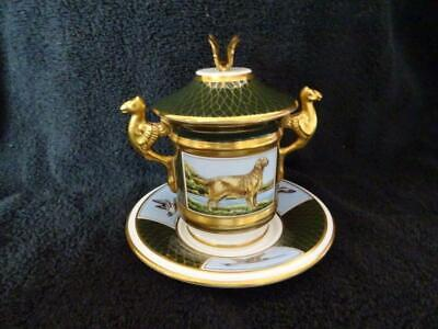 V.Rare Spode Sporting Dogs Chocolate Cup - Golden Retriever - Butterfly Finial • 124.95£