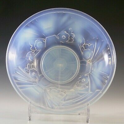 Jobling Art Deco Opaline/Opalescent Glass Flower Bowl • 65£