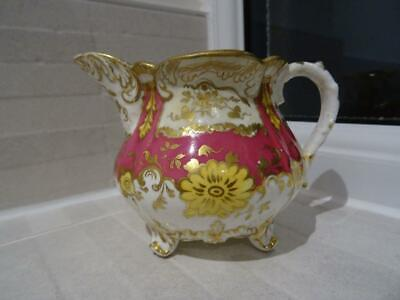 Antique Footed Cream Jug With Elaborate Decoration + Similar Teacup • 12.95£