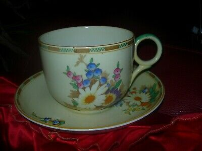 Losol Ware Breakfast Cup And Saucer Margueritte Pattern.tiny Graze On Saucer • 29£