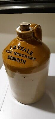 Vintage Stoneware Flagon  Veale Of Sidmouth   • 28£