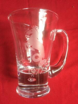 1977 Seahorse Etched Heavy Glass Tankard • 18.99£