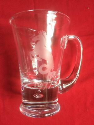 1977 Seahorse Etched Heavy Glass Tankard • 9.09£