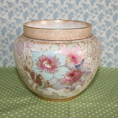 Victorian Royal Doulton Burslem Small Jardiniere / Pot Planter. Hand Painted.  • 36£