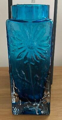 Dartington Crystal - Marguerite Small  Crystal Vase - Teal VGC Box 🌼 • 19.99£
