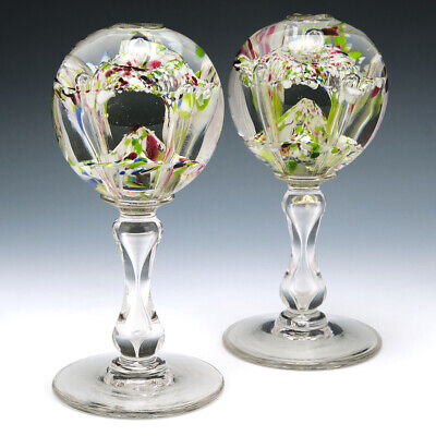 A Pair Of French Or Belgian Pedestal Paperweights C1880 • 235£