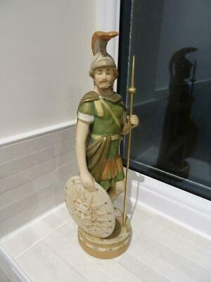 Vintage Royal Dux Bohemia Figurine Of A Macedonian Soldier In Shot Enamels • 195£