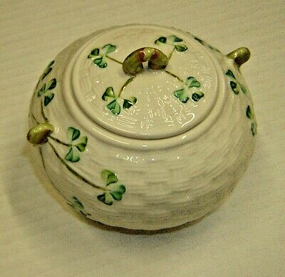 Belleek Shamrock Sugar Bowl • 19.99£