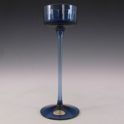 MARKED 8  Wedgwood Sapphire Glass Brancaster Candlestick RSW15 • 25£
