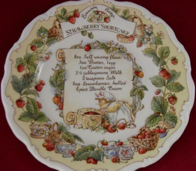 Royal Doulton Brambly Hedge Strawberry Shortcake Recipe Plate Mint In Box • 149£