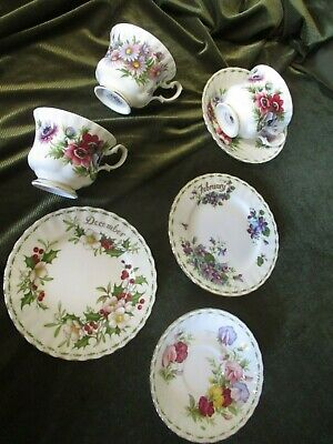Selection  Royal Albert Flower Of Month Cups Saucers Plates Sold Individually • 10£