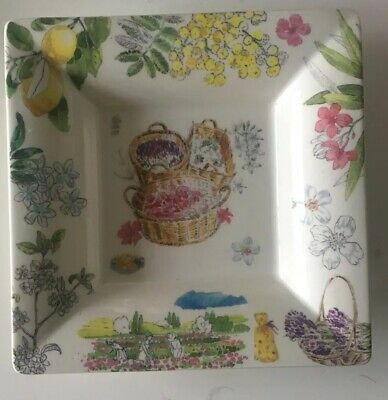 Gien Decorative Flower Tray/Plate • 3.50£