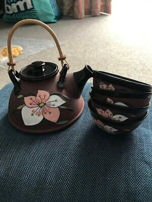 Oriental E. Kucerm Traditional Tea Set With Teapot And Four Cups • 15£