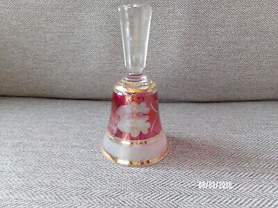 Decorative Red & Gold Glass Bell • 5.99£