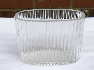Unusual Orrefors Oval Ribbed Glass Vase • 16.99£