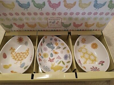 Portmeirion Spring Day 3 EASTER EGG DISHES NEW BOXED DISCONTINUED • 25£