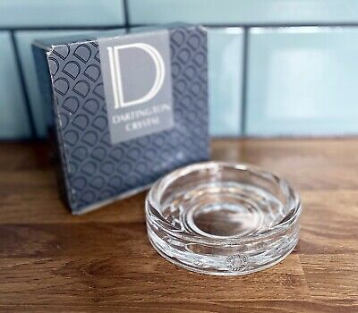 Elegant Original DARTINGTON CRYSTAL Clear Glass Wine Bottle Coaster - Boxed. • 14.99£