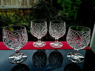 4 Vintage Crystal Wine Glasses Goblets Fabulous High Quality Gin Glass French • 16.75£