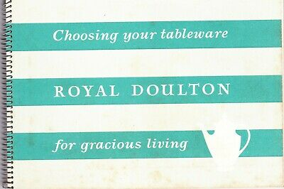 ROYAL DOULTON SALES BOOK : CHOOSING YOUR TABLEWARE FOR GRACIOUS LIVING (1960s) • 9.95£