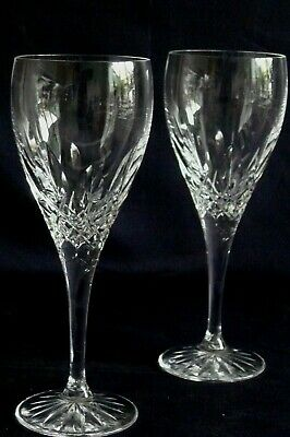 Pair Crystal Small Wine Glasses • 15£