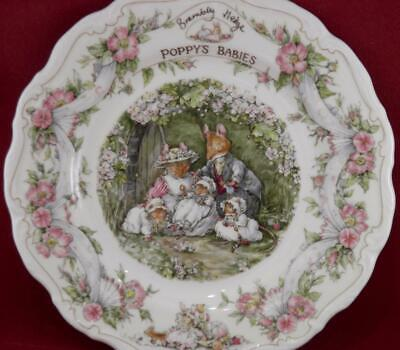Royal Doulton Brambly Hedge Poppy's Babies Plate 1995 Jill Barklem • 59.99£