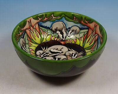MOORCROFT The Clan 711/6 Badgers RSPB Ltd Ed 39 Of 50 6  Bowl RRP £540 • 195£