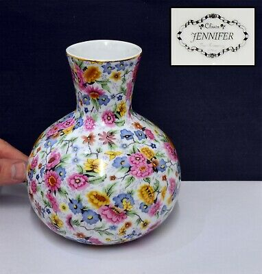 Rare Chintz Floral Vase  Jennifer  By Two's Company. Beautiful & Good Condition • 16.99£