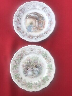Royal Doulton Brambly Hedge Collection - 2x Tea Plates - Summer & Winter • 9.30£