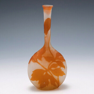 Galle Clematis Cameo Glass  Banjo  Vase 1902-1904 • 755£