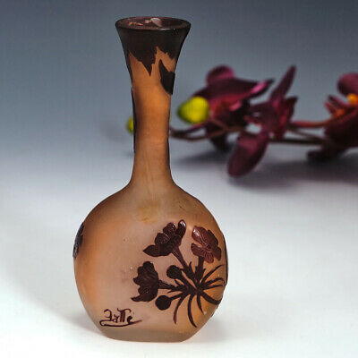 A Small Galle Cameo Glass Vase C1900 • 728£