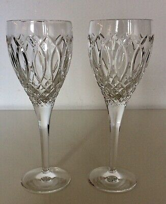 Stuart Crystal Windsor Cut Wine Glasses X 2 • 12.99£