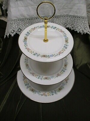 Lovely Vintage Royal Doulton  China Plated 3 Tier Cake Stand Pastorale' • 16.50£