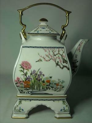 Franklin Mint BIRDS & FLOWERS OF THE ORIENT TEAPOT AND STAND Tea Pot 9 Photos • 49.95£