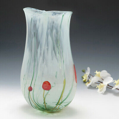 A Tall British Studio Glass Vase By Siddy Langley • 378£