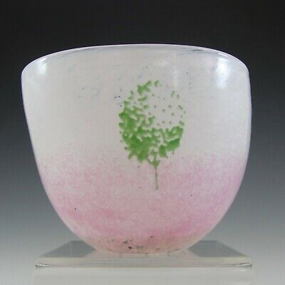 SIGNED Kosta Boda Pink Glass 'May' Bowl By Kjell Engman • 75£