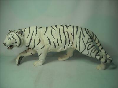 LARGE Franklin Mint WHITE MAJESTY Tiger Figurine 20  Wide Hand Painted Porcelain • 174.95£