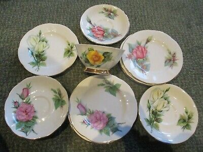 Fine Selection Of Harry Wheatcroft  Roses Mismatch China Plates Saucers, Cups • 3£