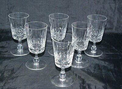 Six Edinburgh Crystal Sherry Appin Glasses Cut Blown Hand Made Signed • 20£