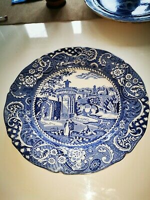 Blue & White 'Landscape' W.R. Midwinter China Plate • 30£