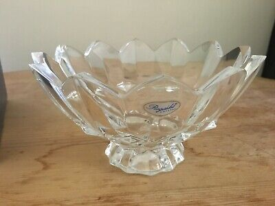 Rogaska Diamond Point 7  Footed Bowl. Excellent Condition • 75£