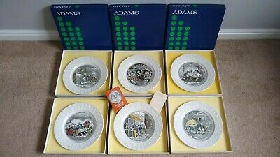 Adams (Wedgwood) Full Set Of 6 Charles Dickens Plates (10.5 ) With Boxes • 9.99£