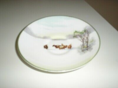 ROYAL DOULTON SERIES WARE Horned Sheep In Snow Saucer • 3£