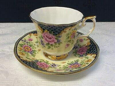 Queen's China  Cup And Saucer Chatsworth • 9.99£