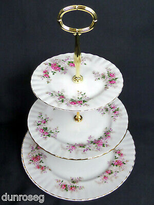 Lavender Rose 3-tier Cake Stand, New Centre Pole, Made In England, Royal Albert • 19.95£