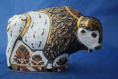 Royal Crown Derby North American Bison Ltd Ed Gold - Boxed • 195£