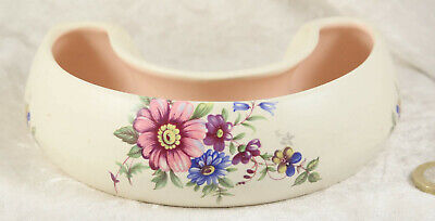 Axe Vale Pottery Devon England Floral Decoration 12 Inches Around Outside   • 2.50£