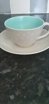 Poole Pottery Mismatched Cup And Saucer • 3.99£