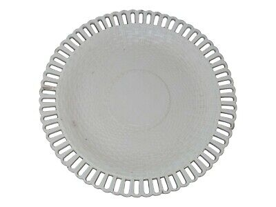 Antique - LEEDS Pottery Creamware Lattice Work PLATE With Basket Weave Design • 39.99£