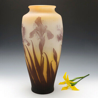 A Very Tall Galle Cameo Glass Vase C1910 • 2,200£